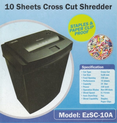 Mesin penghancur kertas Secure EzSC 10A